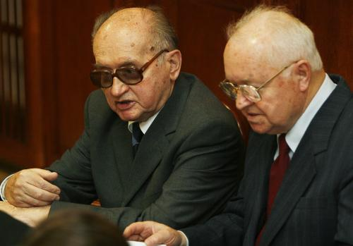 Wojciech Jaruzelský a Stanislaw Kania