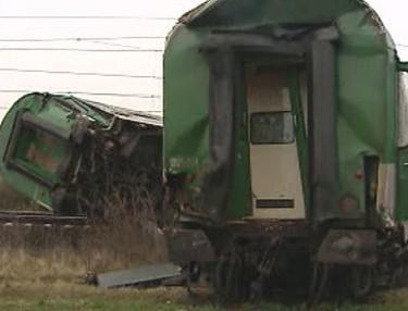 Zdemolovaný vlak
