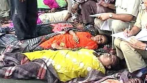 Oběti tlačenice v Indii