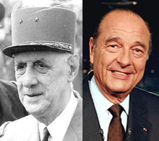 Chirac a de Gaulle