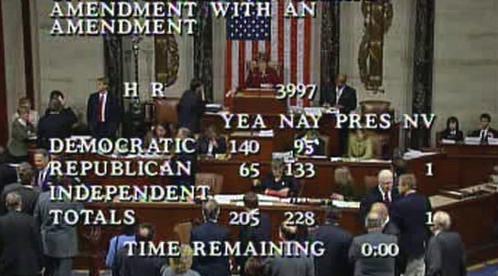 Hlasování demokratů a republikánů