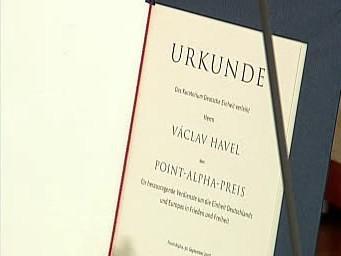 Cena Point Alpha pro Václava Havla