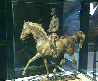 Model jezdecké sochy TGM