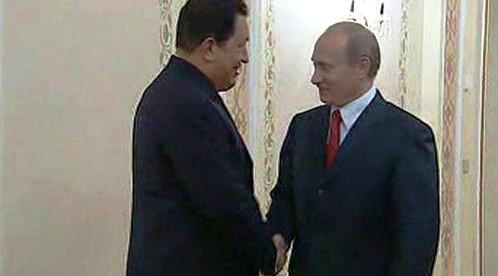 Hugo Chávez a Vladimir Putin