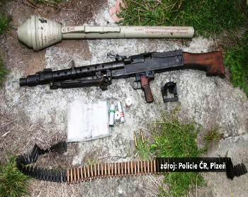 Zbraně nalezené v Plzni
