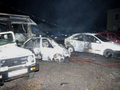 Vraky aut po nehodě