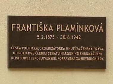 Pamětní deska Františce Plamínkové