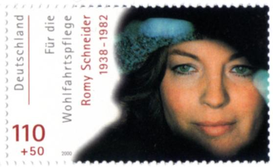 Romy Schneiderová na dopisní známce