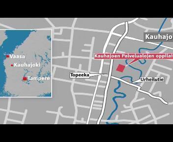 Plánek školy ve finském Kauhajoki