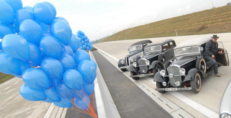 Slavnostní otevření nového úseku D1