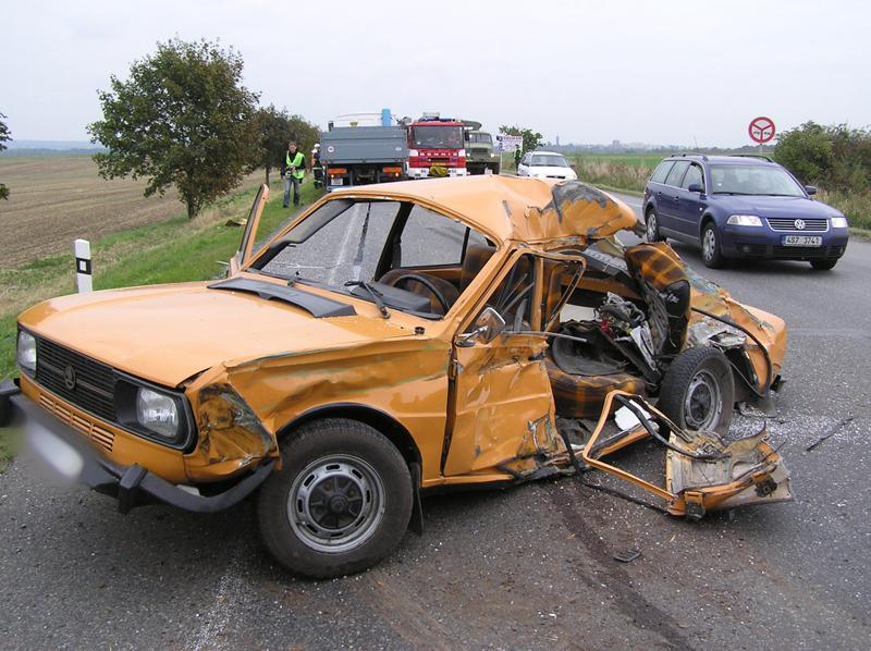 Škodovka po nehodě