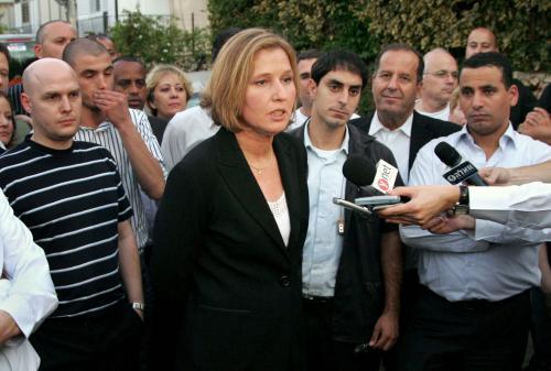 Předsedkyně izraelské strany Kadima Cipi Livniová
