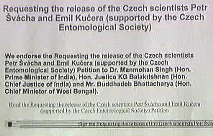 Petice za propuštění českých entomologů
