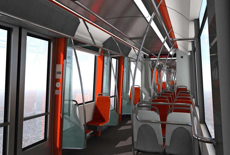 Interiér pro tramvaj ŠKODA 15T