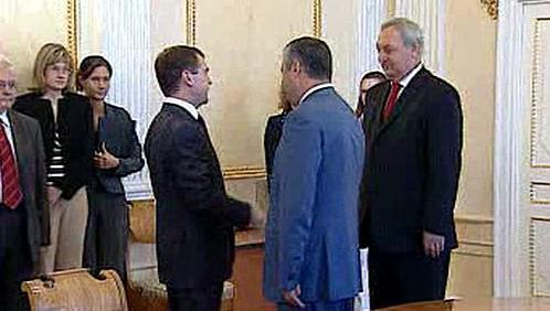 Dmitrij Medveděv, Eduard Kokojev a Sergej Bagapš