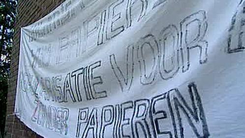 Protest imigrantů v Belgii