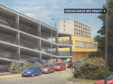 Návrh parkovacího domu v Praze 4