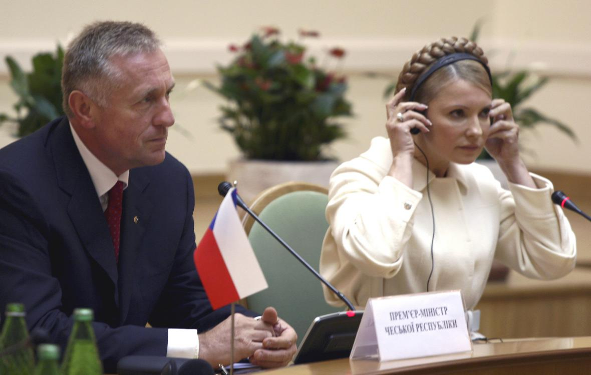Mirek Topolánek a Julija Tymošenková