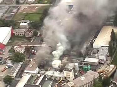Požár mladoboleslavské továrny Akuma