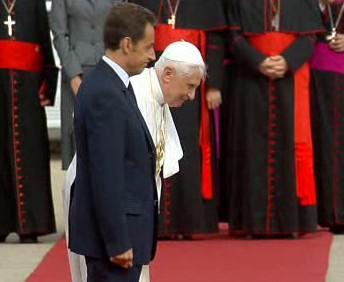 Papež Benedikt XVI. a Nicolas Sarkozy