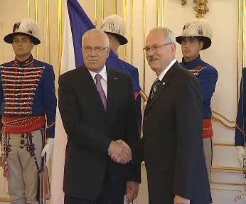 Václav Klaus a Ivan Gašparovič