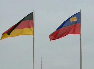 Německá a lichtenštejnská vlajka