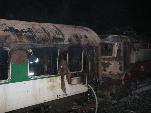 Vlak po požáru