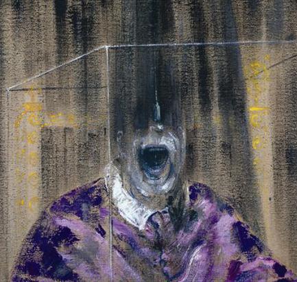 Obraz křičícího papeže od Francise Bacona