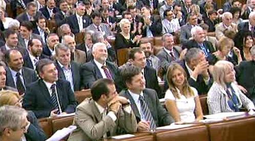 Zasedání srbského parlamentu