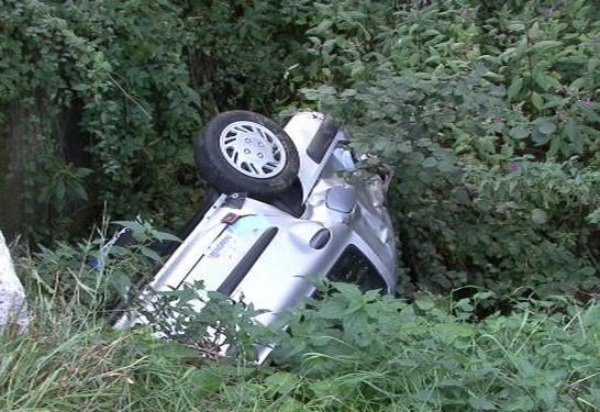 Nehoda osobního auta