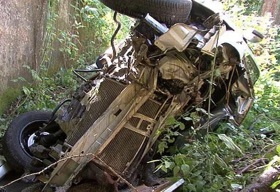 Nehoda osobnbího auta