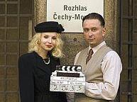 Jana Plodková a Marek Daniel při natáčení filmu Protektor