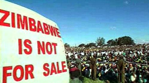 Protestní shromáždění v Zimbabwe
