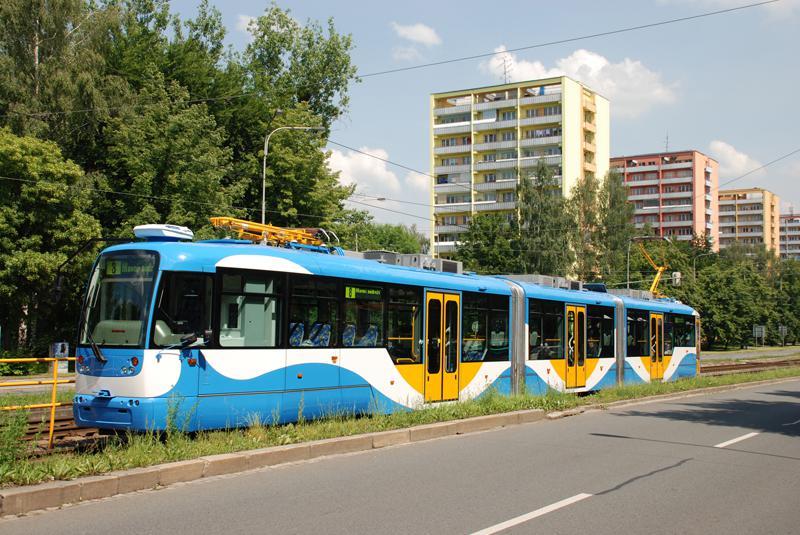Nová tramvaj v Ostravě