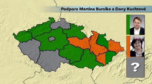 Podpora Martina Bursíka a Dany Kuchtové