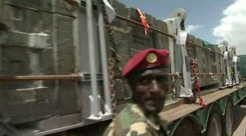 Transport aksumského obelisku do Etiopie