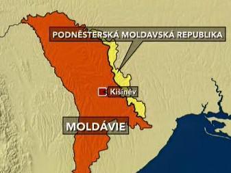 Mapa Moldávie