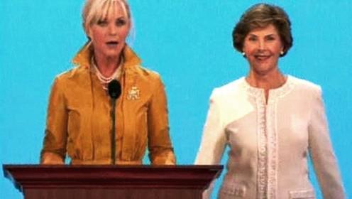 Cindy McCainová a Laura Bushová