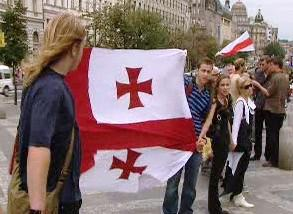 Demonstrace na podporu Gruzie