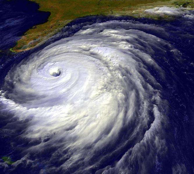 Hurikán blížící se k americkému pobřeží