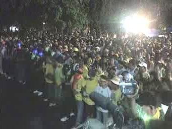 Thajští demonstranti