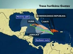 Trasa hurikánu Gustav
