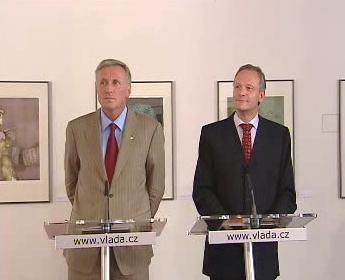 Mirek Topolánek a Cyril Svoboda