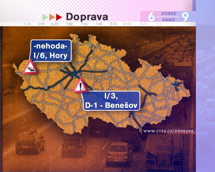 Dopravní situace v pátek 29. 8. 2008