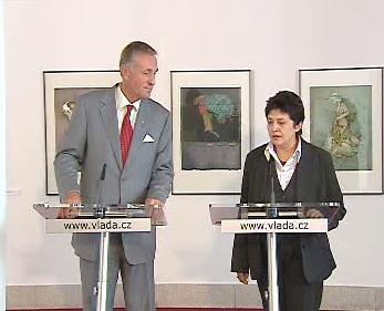Džamila Stehlíková a Mirek Topolánek
