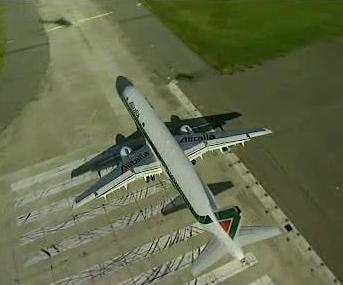 Letadlo společnosti Alitalia