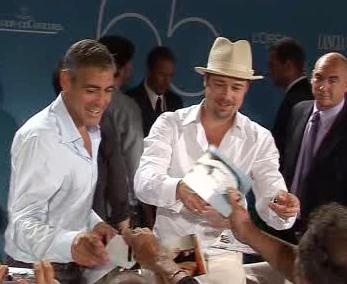 George Clooney a Brad Pitt