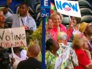 Voliči podporující Baraka Obamu