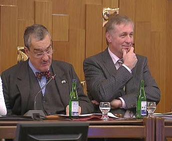 Karel Schwarzenberg a Mirek Topolánek
