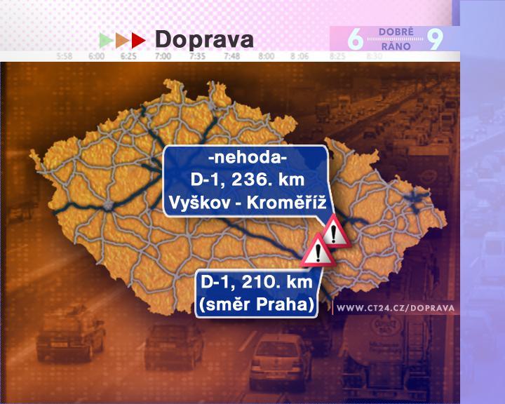 Dopravní situace ve středu 27. 8. 2008